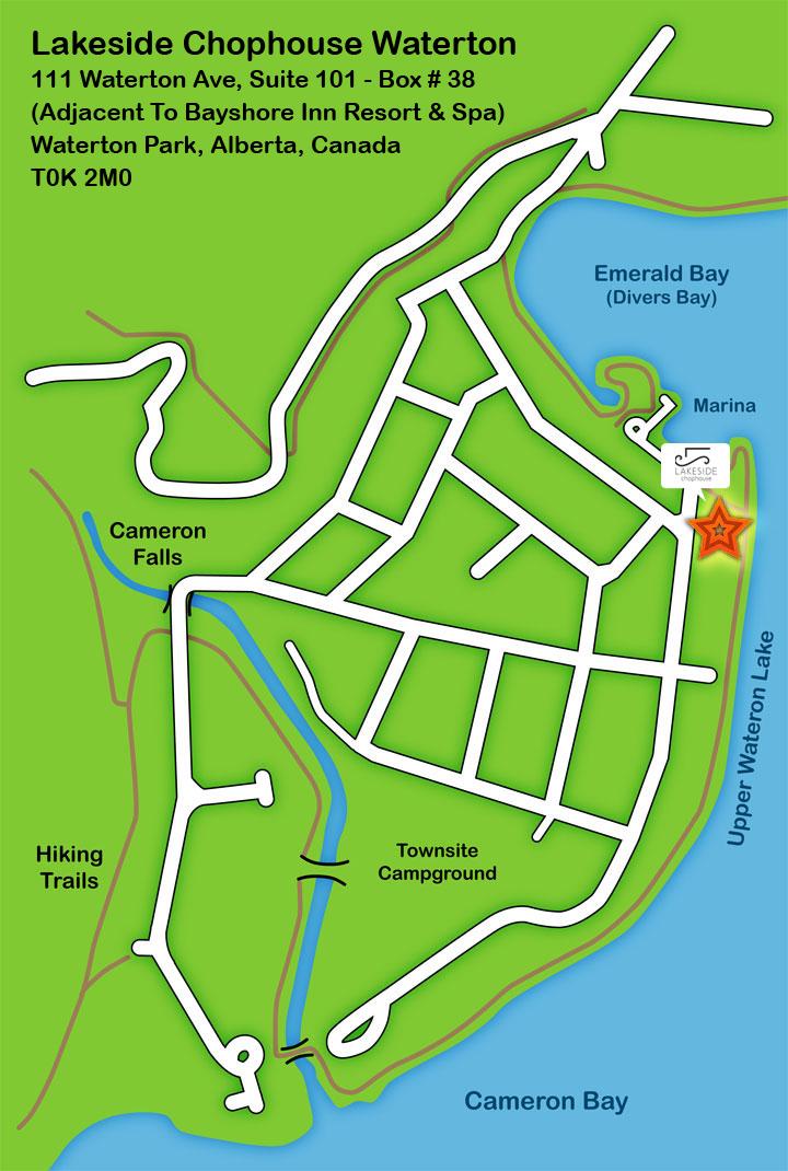 Lakeside Chophouse Map